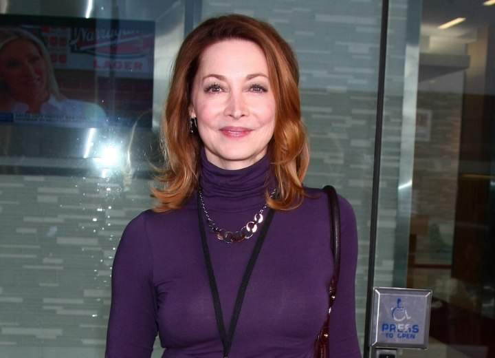 Flippy hairstyle for 50+ women - Sharon Lawrence
