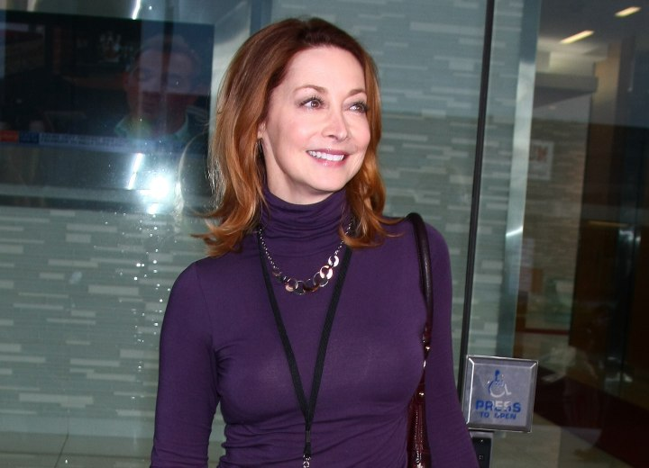 Sharon Lawrence - Sporty look with a silky turtleneck