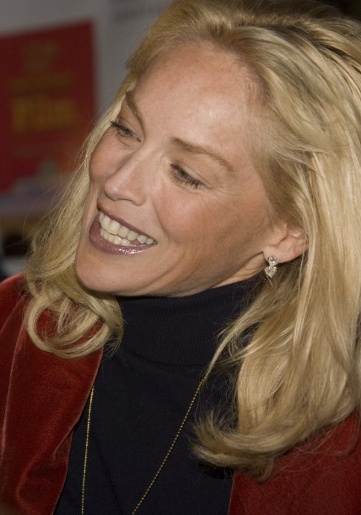 Sharon Stone Sharon Stone wearing h...