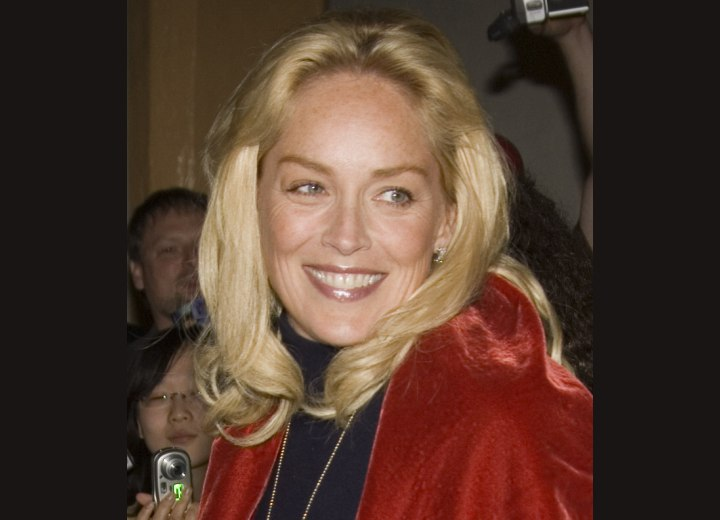 Long hair for older women - Sharon Stone