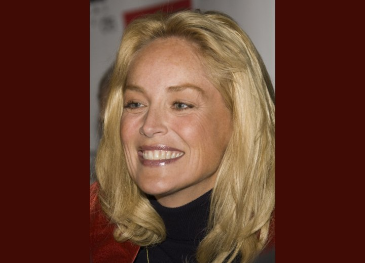 Sharon Stone wearing a turtleneck