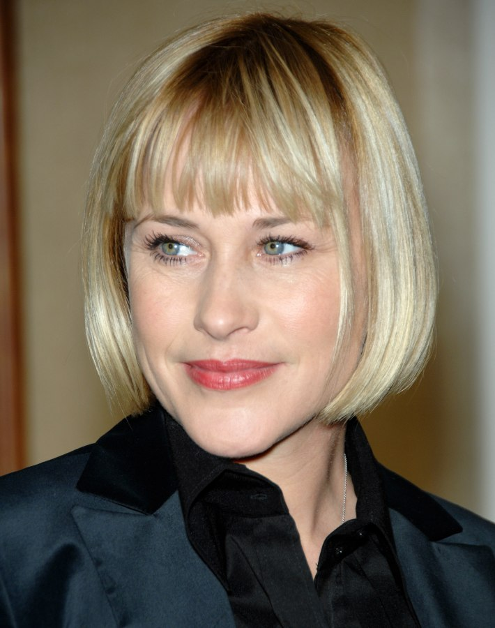 Patricia Arquette Professional Look With A Short Bob