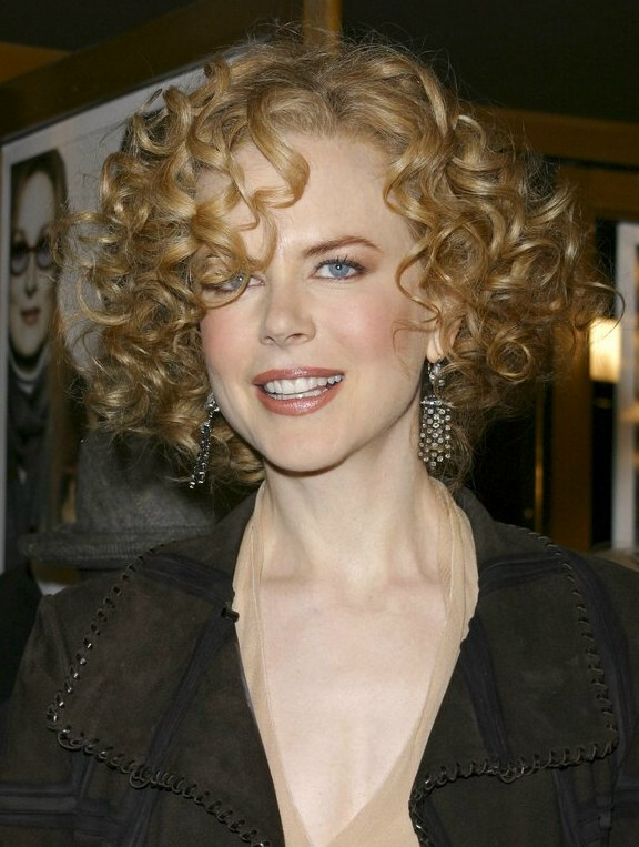 Nicole Kidman Short Curly Hair With Short Curly Hair