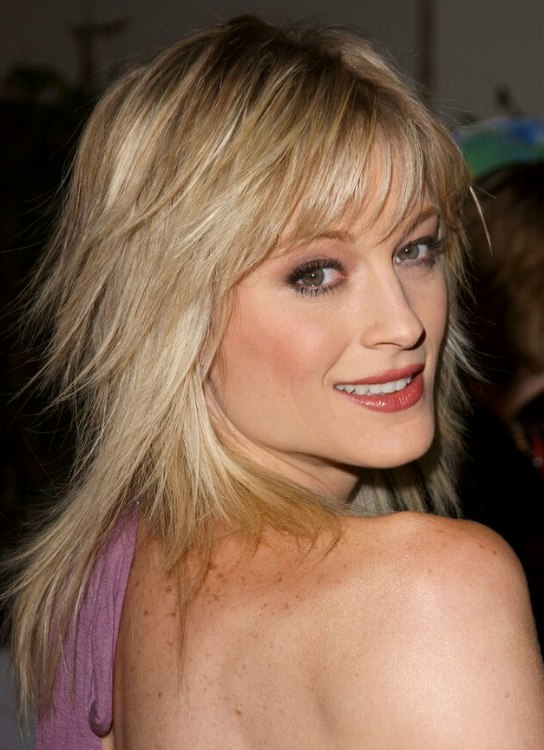 Make The Cut >> Teri Polo | Long straightened hair and long hair with jagged textured ends