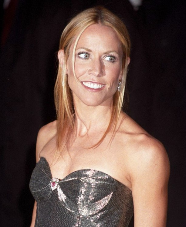 Sheryl Crow Simple And Straight Long Hair For A Formal Event