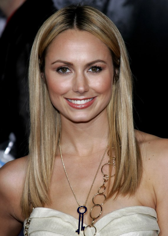 Stacy Keibler S Long Straight Blonde Hair Styled With