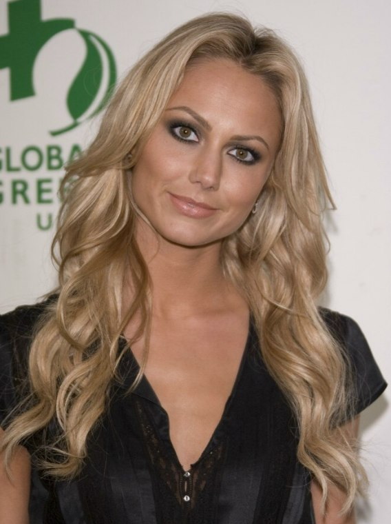 Stacy Keibler Wearing Her Blonde Hair Very Long And With