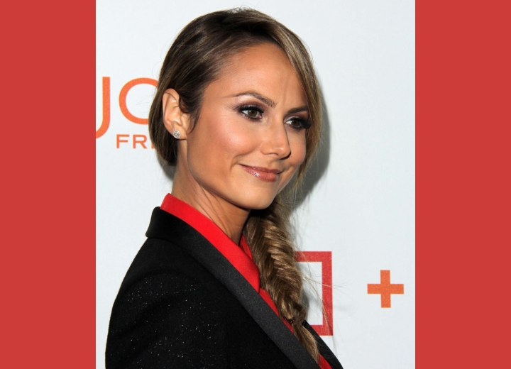 Stacy Keibler with braided hair