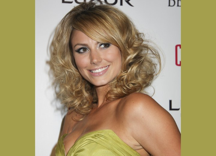 Stacy Keibler - Curly hairstyle with straight bangs