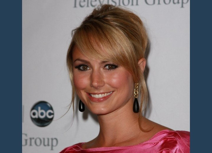 Stacy Keibler - Girlish hairstyle with pinned hair