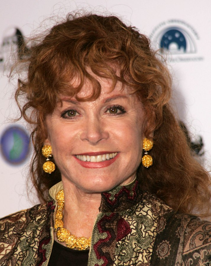 Stefanie Powers Long Hairstyle With Copper Colored Curls