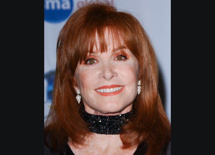 Hairstyle with spacey bangs - Stefanie Powers