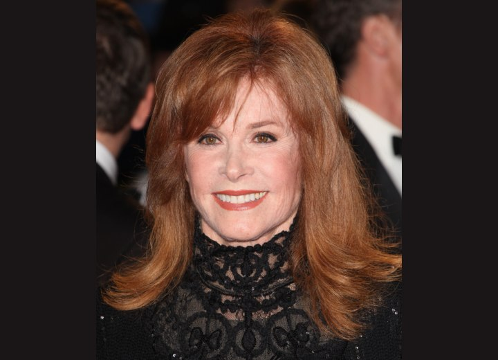 Long hourglass shape hairstyle - Stefanie Powers