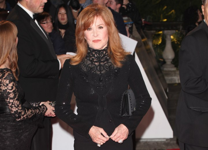 Stefanie Powers look with long red hair