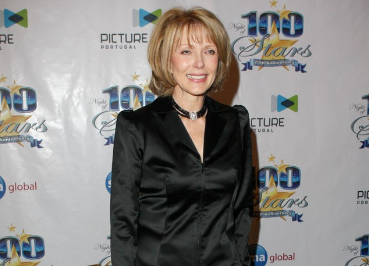 Susan Blakely look with a medium hairstyle