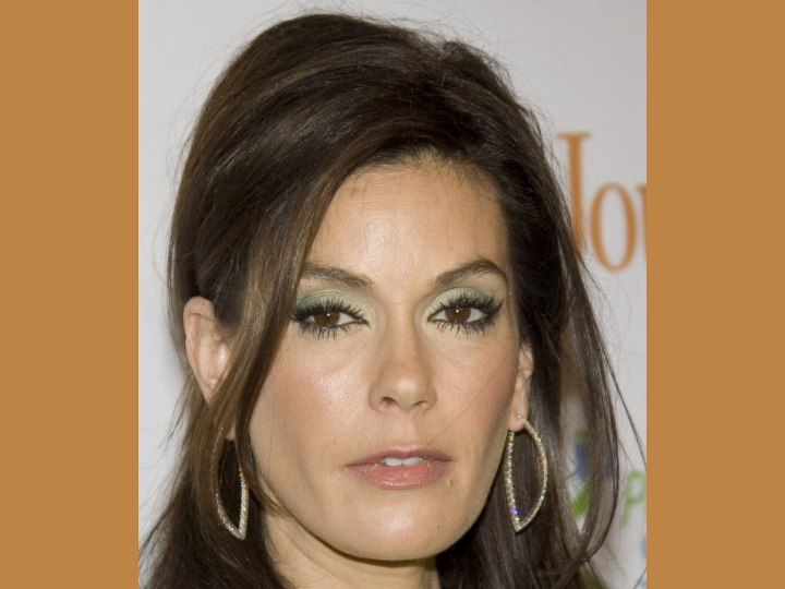 Close up of Teri Hatcher's hair