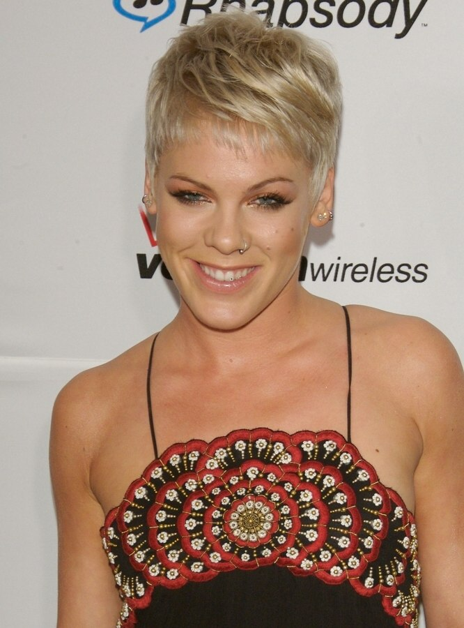 Fabulous Pink Boyish Short Hairstyle With The Ears And Neck Exposed Short Hairstyles Gunalazisus