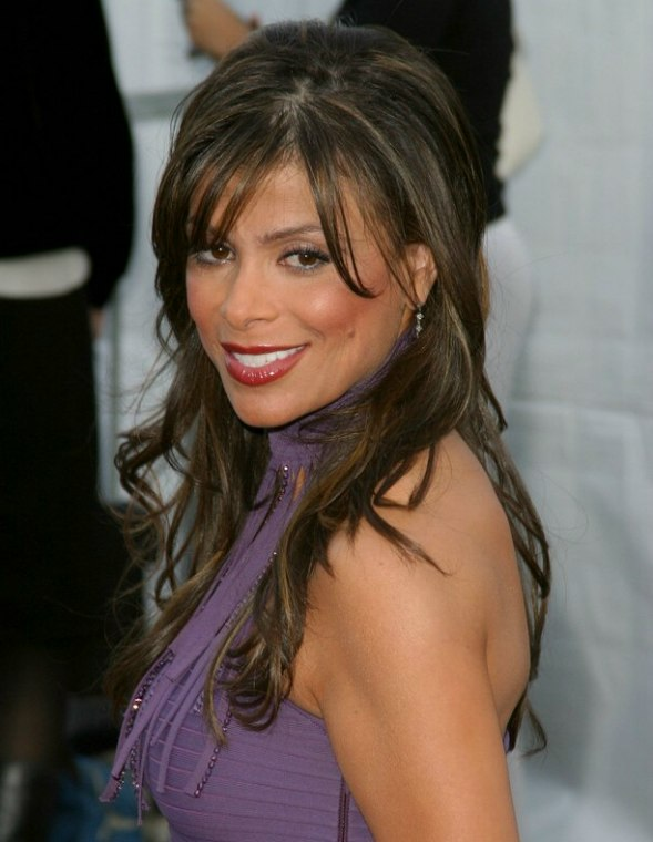 Paula Abdul Wearing Her Hair Very Long With Large Waves