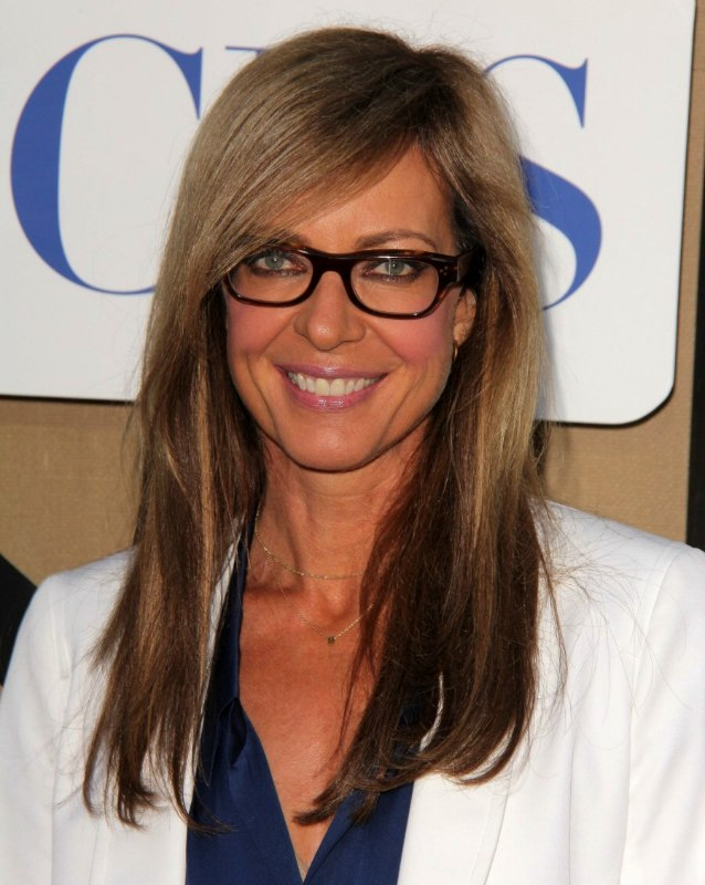 Allison Janney S Professional Look With Glasses And Long