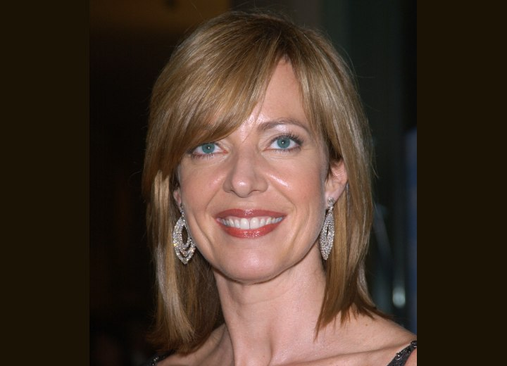Allison Janney's hair in a medium length shag