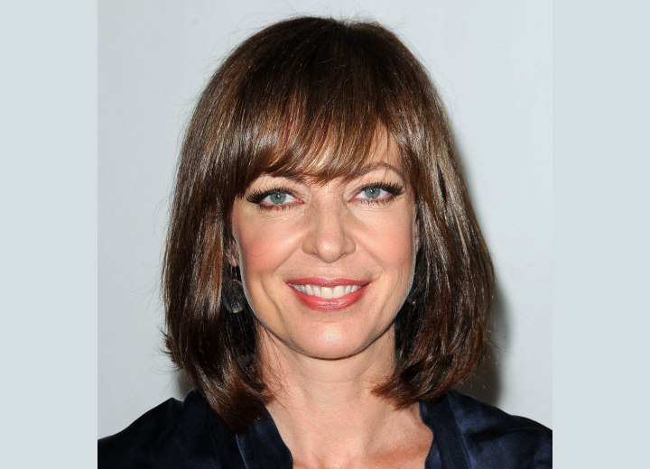 Allison Janney wearing her hair in a long bob or lob