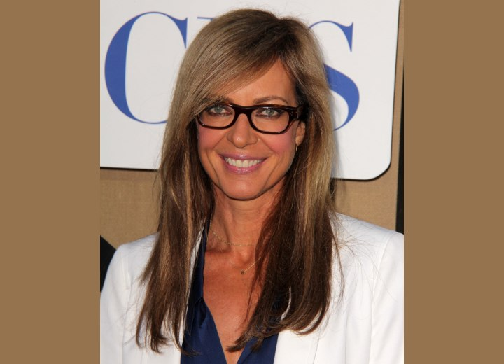 Allison Janney with long straight hair