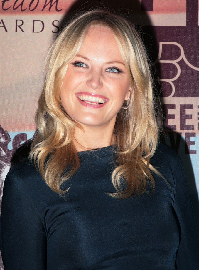 Malin Akerman S Blonde Hair In Long Layers With Loose