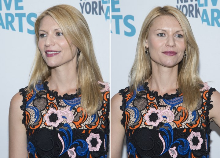 Claire Danes - Simple sleek hairstyle
