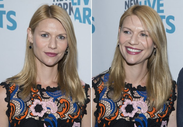 Claire Danes - Long hairstyle with straight styling