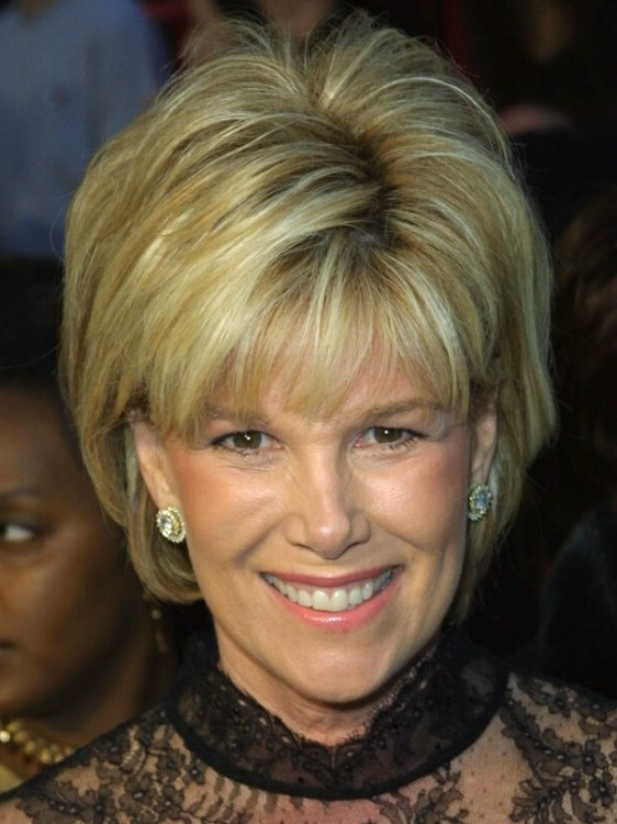 Joan Lunden S Easy Short Half Way The Neckline Hair With