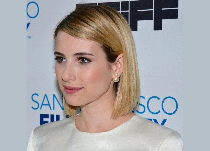 Emma Roberts - Sleek long bob hairstyle