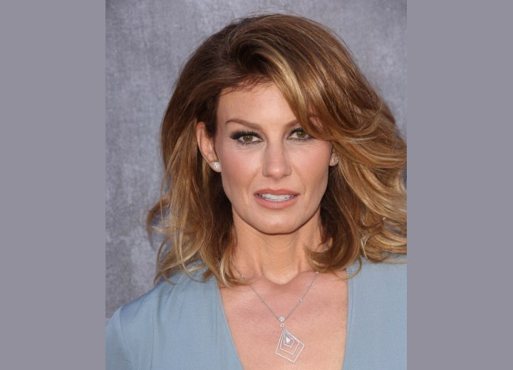 Faith Hill with ombre hair coloring
