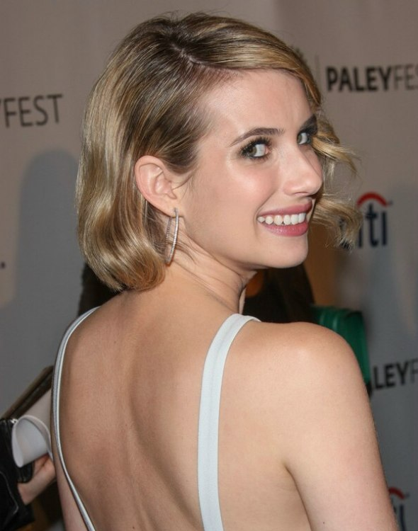 Emma Roberts Medium Length Vintage Hairstyle With