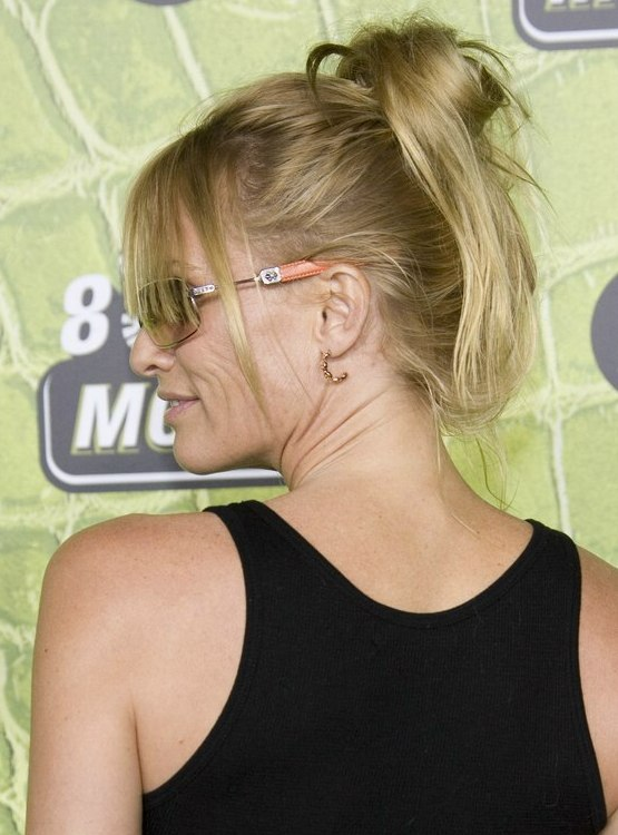 Nicollette Sheridan Hair Fastened Into The Crown For A