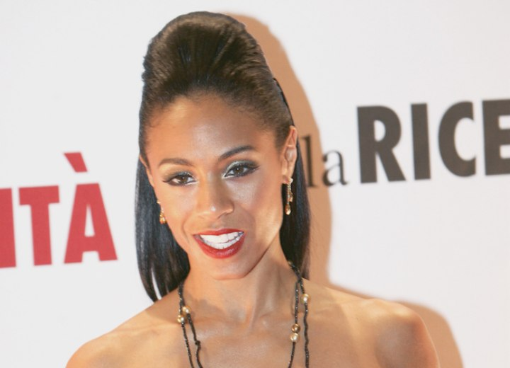 Jada Pinkett Smith with back combed hair