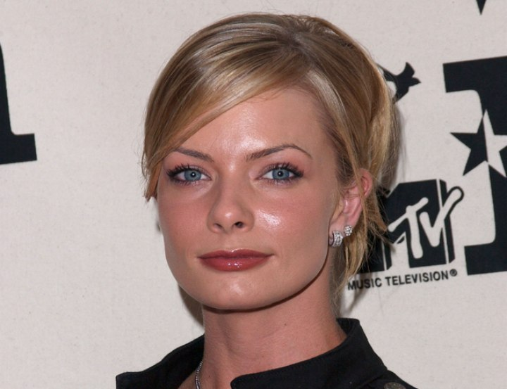 Jaime Pressly wearing her hair in an updo