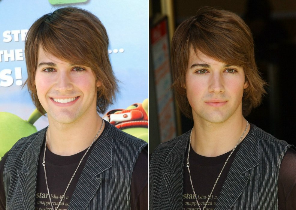 James Maslow With His Hair In A Shag That Covers His Neck