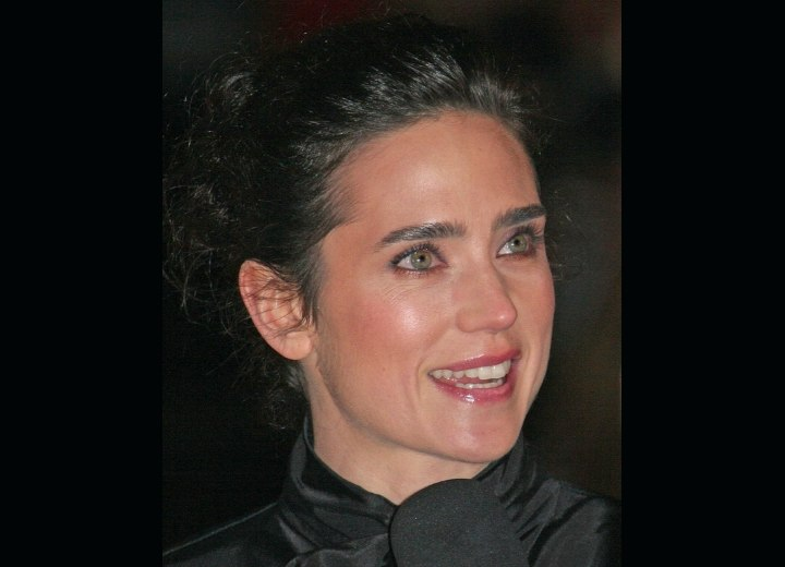 Jennifer Connelly with her hair in an updo