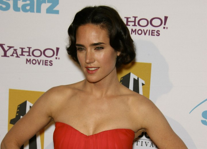 Bob hairstyle with waves - Jennifer Connelly