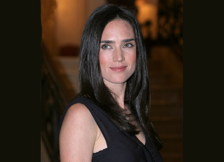 Youthful style for long hair - Jennifer Connelly