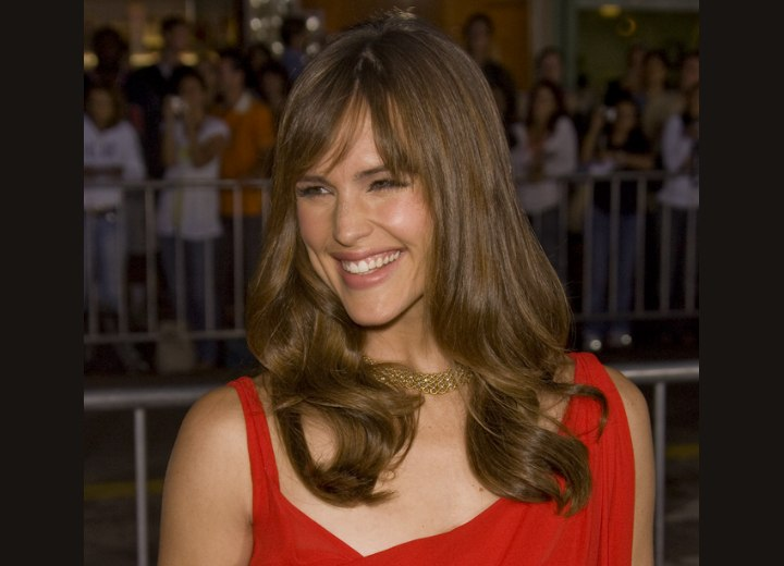 Long hairstyle for thick hair - Jennifer Garner