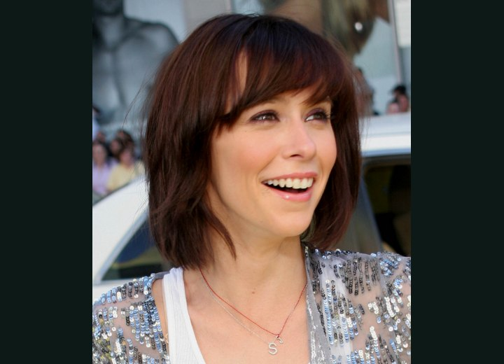 Jennifer Love Hewitt's bob hairstyle with textured ends