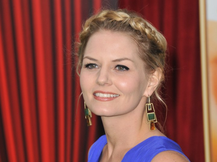 Jennifer Morrison with braided hair