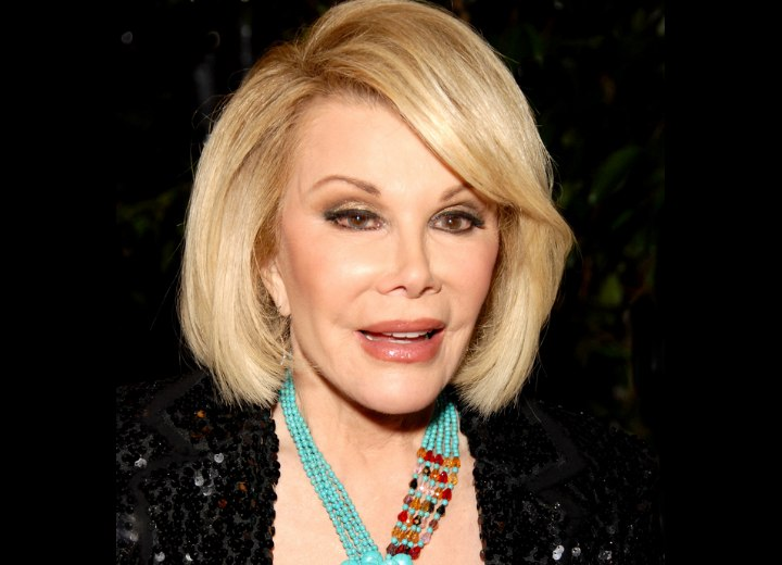 Modern hairstyle for 70 plus women - Joan Rivers