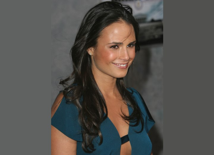 Jordana Brewster's dark brunette hair