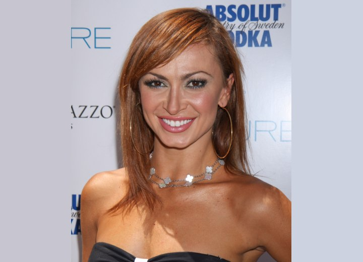 Long hairstyle for brown hair - Karina Smirnoff