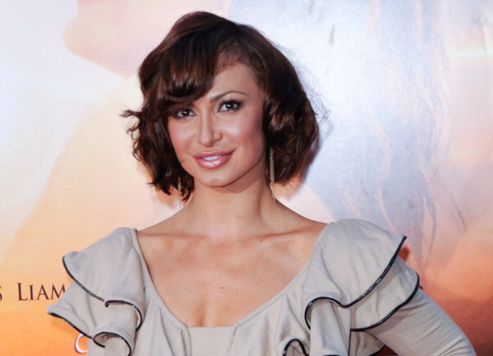 Hair and dress for a Karina Smirnoff look