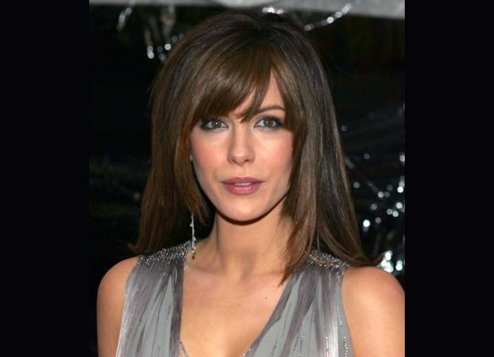 Kate Beckinsale's long hair with tapered sides