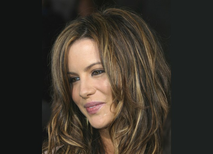 Hair with a 3D coloring effect - Kate Beckinsale