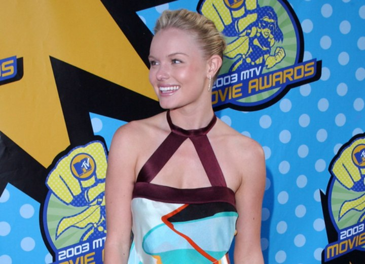 Kate Bosworth wearing a colorful silk dress